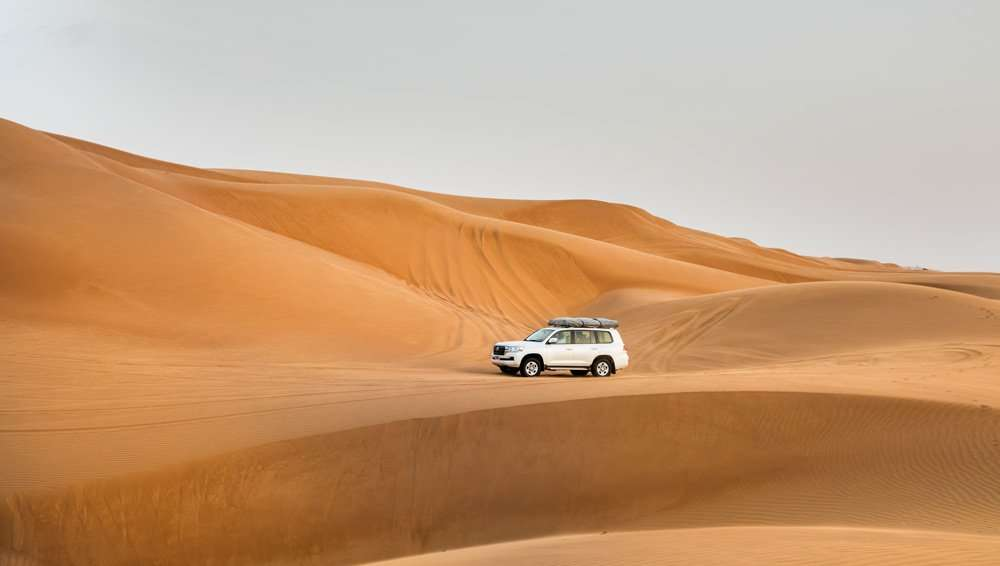 land Cruiser in Sand Dunes Oman